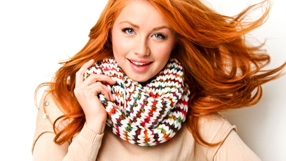 Knitted Scarves for the Holidays