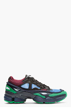 RAF SIMONS Blue Mesh Adidas Edition Ozweego 2 Sneakers for men