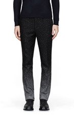 RAF SIMONS Black & white speckled ombre trousers for men