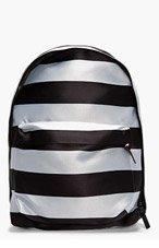 RAF SIMONS Black striped nylon Eastpack collaboration backpack for men