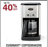 40% off Cuisinart® Coffeemakers. Shop now.