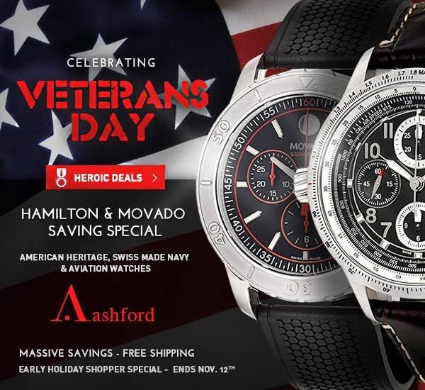 Veteran's Day Sale at Ashford.com!