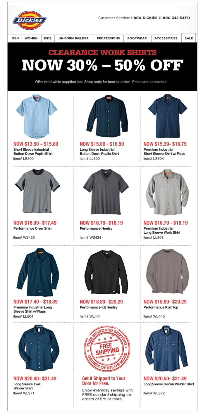 Up to 50% Off Clearance Work Shirts