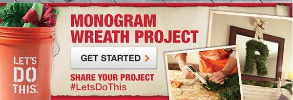 Monogram Wreath Project