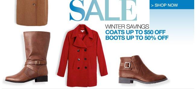 Coat and Boot Sale, Winter Savings