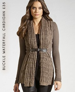 Buckle Waterfall Cardigan