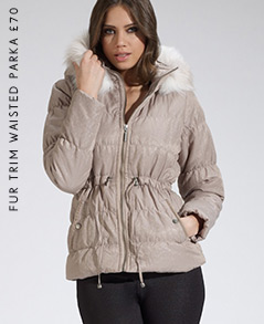 Fur Trim Waisted Parka