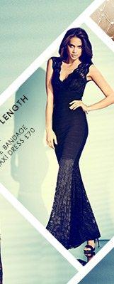 Lace Bandage Maxi Dress