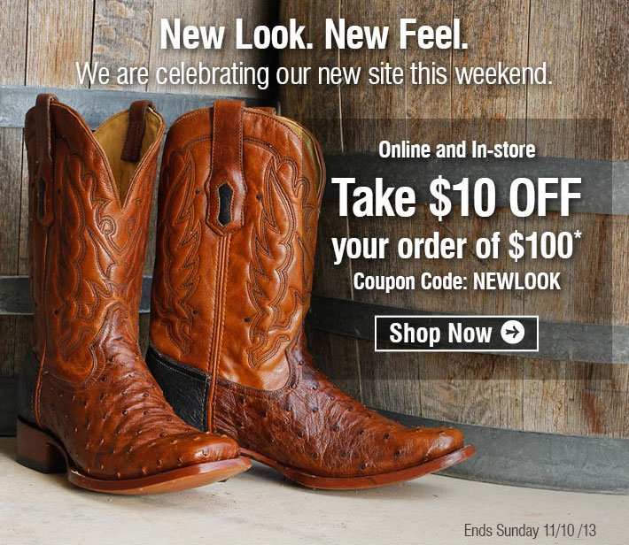 New Look. New Feel. - We are celebrating our new site. Take $10 Off Your Order Of $100