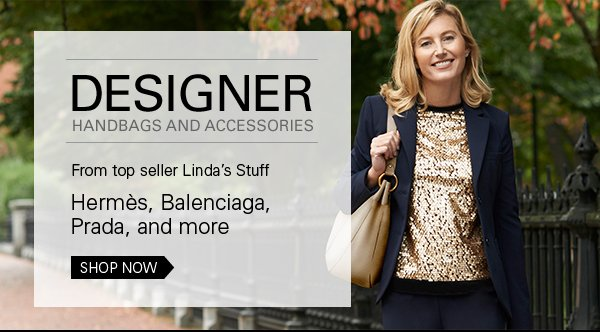 Designer handbags and accessories from Linda's Stuff