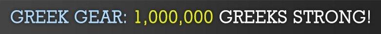 Greek Gear: 1,000,000 Greeks Strong!