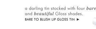 Bare to Blush Lip gloss tin