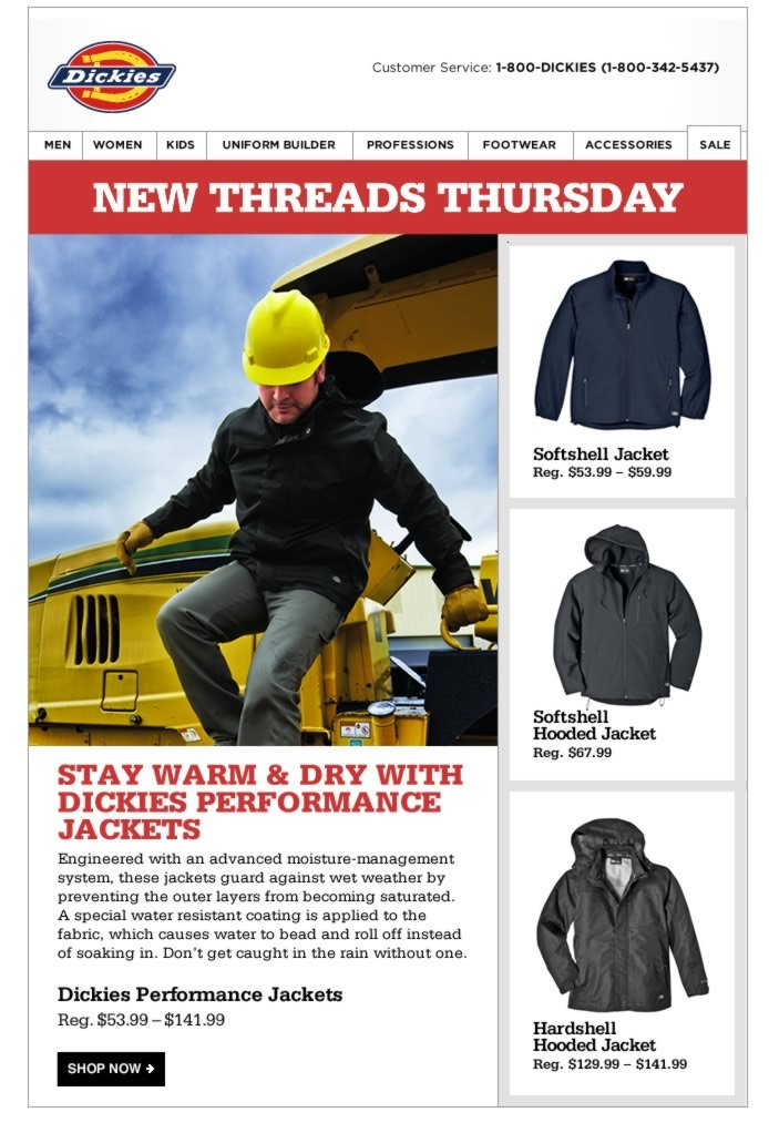 New Threads Thursday: Water Resistant Performance Jackets