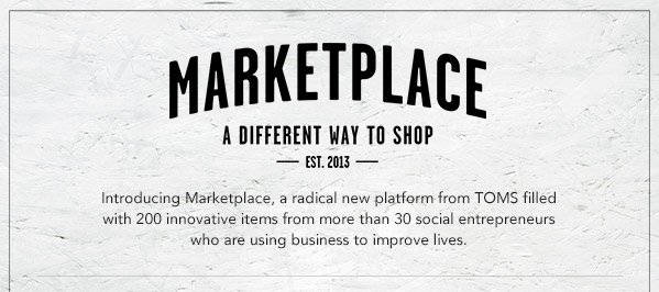 Marketplace - a different way to shop