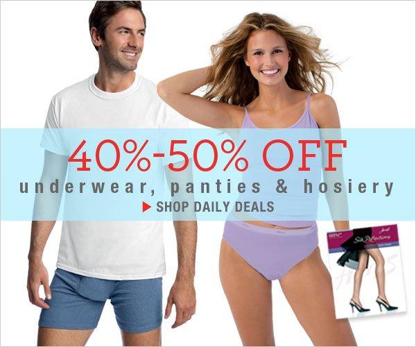 40-50% Off Panties,  Hosiery & Underwear