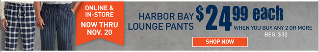 Shop Harobr Bany Flannel Lounge Pants