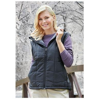 Women's Fleece-lined Hooded Vest