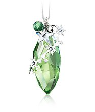 Christmas Ornament Peridot Silver Shade