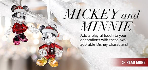 Add a playful touch to your decorations with Mickey and Minnie