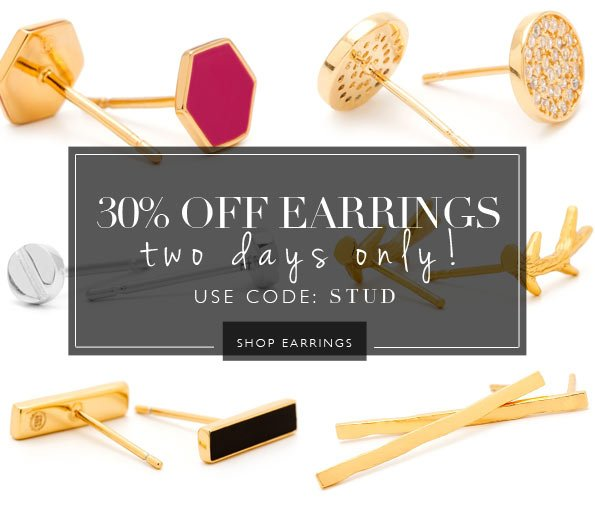 It's Your Lucky Day | 30% Off All Earrings