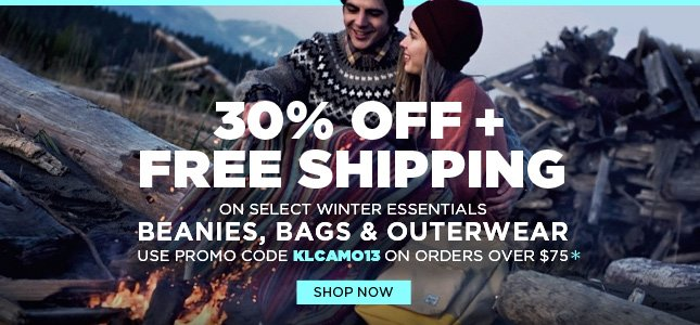 Get 30% Off + Free Shipping on Winter Essentials