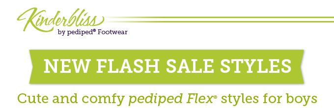 Kinderbliss by pediped Footwear. New flash sale styles: Cute and comfy pediped Flex styles for boys.