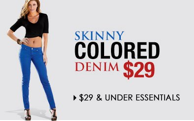 Get the SKINNY! Shop Essentials $29 and UNDER
