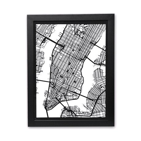 New York City Cut Map