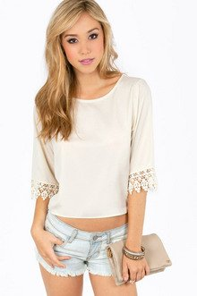 SOPHIE CROCHET TRIM TOP 29
