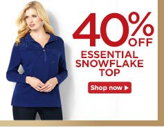 40% off the essential snowflake top!