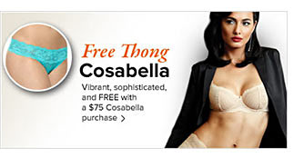 Free Thong From Cosabella - See Details