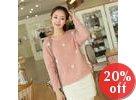 Pompom Rib-Knit Sweater