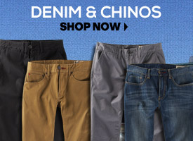 Denim and Chinos: We Have All The Best Brands