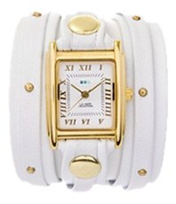 White Gold Stud Wrap Watch