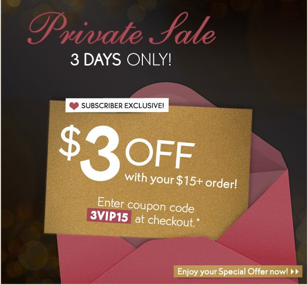 PRIVATE SALE 3 DAYS ONLY!