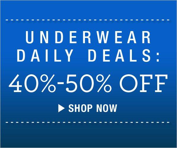 40-50% off Underwear