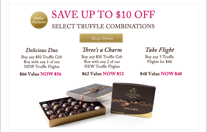 Online Exclusive - SAVE UP TO $10 OFF SELECT TRUFFLE COMBINATIONS - Shop Online