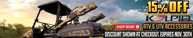 Sportsman's Guide's 15% Off on All Kolpin® Products! Hurry, Offer Good Through Saturday, Nov. 30, 2013... Discount Applied at Checkout... No Coupon Code Needed...
