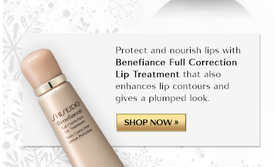 Protect and nourish lips with Benefiance Full Correction Lip Treatment that also enhances lip contours and gives a plumped look. | SHOP NOW »