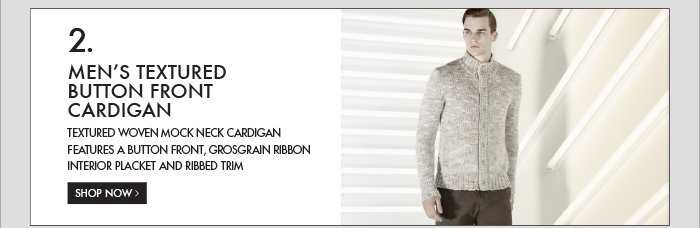 2. MEN'S TEXTURED BUTTON FRONT CARDIGAN