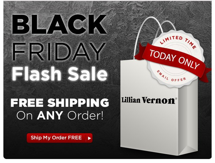 TODAY ONLY — Black Friday Flash Sale — Plus FREE Shipping