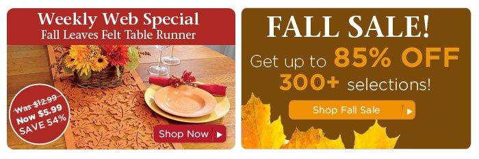 Weekly Web Special & Big Sale