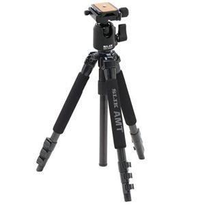 Adorama - Slik Able 340DX A.M.T 4 Section Titanium Tripod Legs, Black - Bundle - with Slik SBH-200DS Ball Head