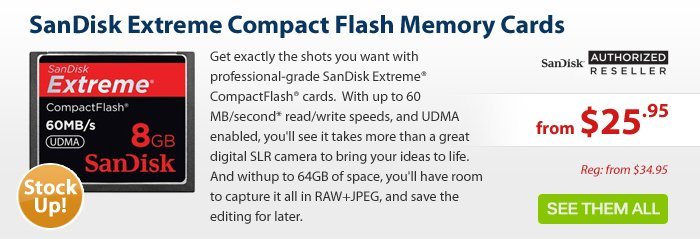 Adorama - SanDisk Extreme Compact Flash Cards