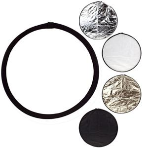 Adorama - Glow 32 5-in-1 Collapsible Disc Reflector, Translucent, White, Black, Silver & Soft Gold