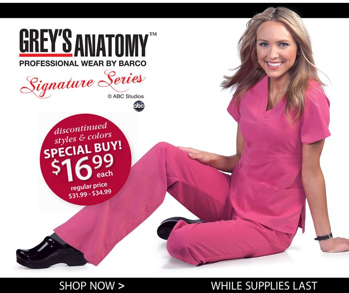 Save on select Grey's Anatomy