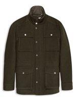 Wool Melton Four Pocket Field Jacket