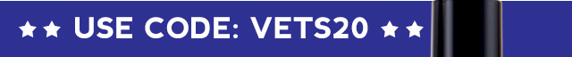 20% OFF Veterans Day Site Wide Sale Use Code: VETS20
