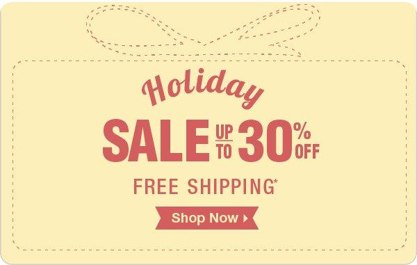 Holiday Sale Savings