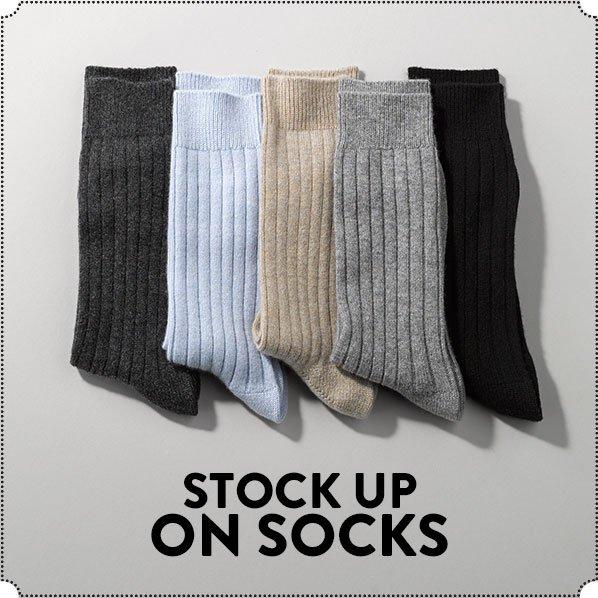 STOCK UP ON SOCKS
